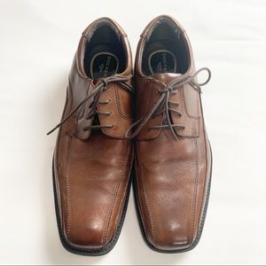 Dockers Brown Leather Lace Up Dress Shoes